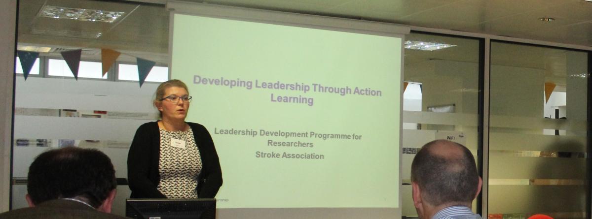 Rachael Fernandez (Bruck Payne Associates) delivering the Delivering Leadership Through Action Learning session