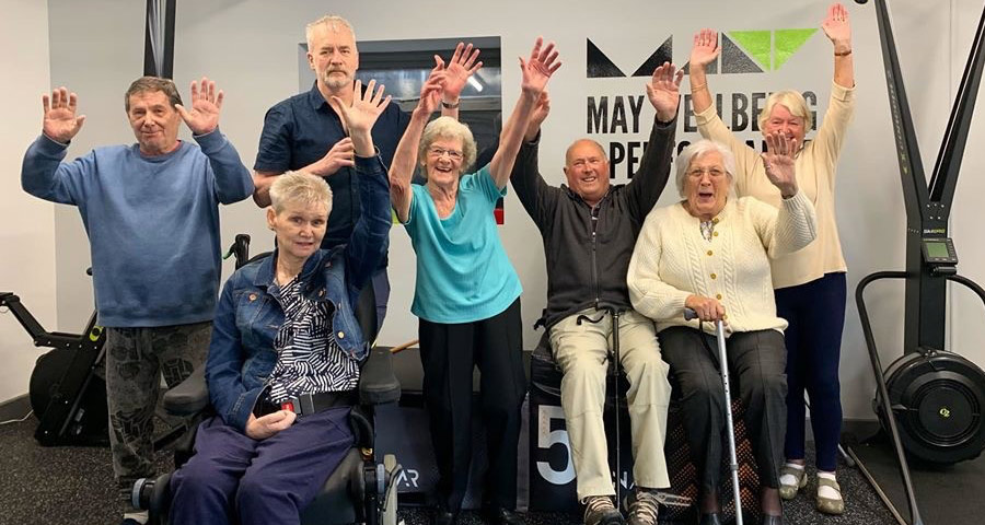 Group photo of stroke survivor at a Lives After Stroke centre