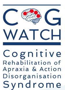 Cogwatch project logo; Rehab of Apraxia