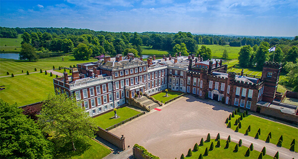 Knowsley Hall aerial view