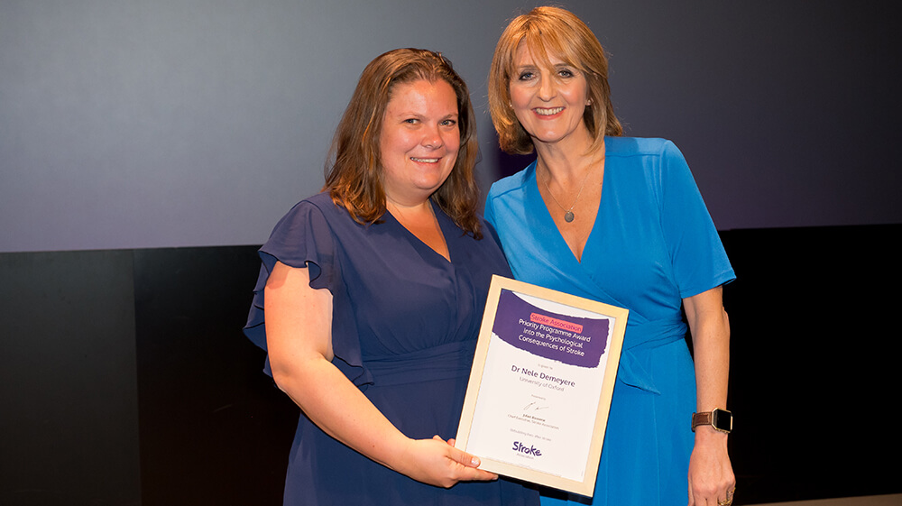 Dr Nele Demeyere (left) and Kaye Adams (right)
