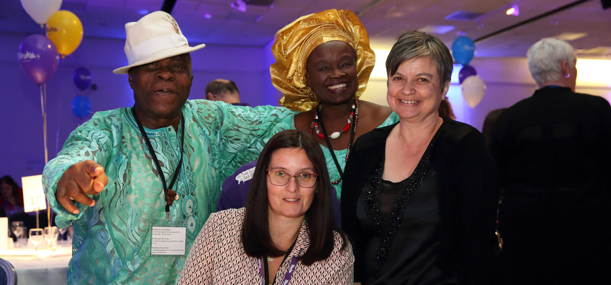 Photo of UKSCC participants attending a social dinner