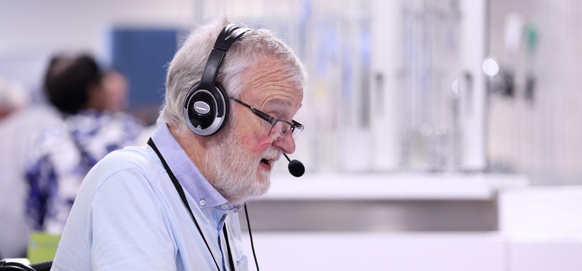 Photo of man attending virtual UKSCC event