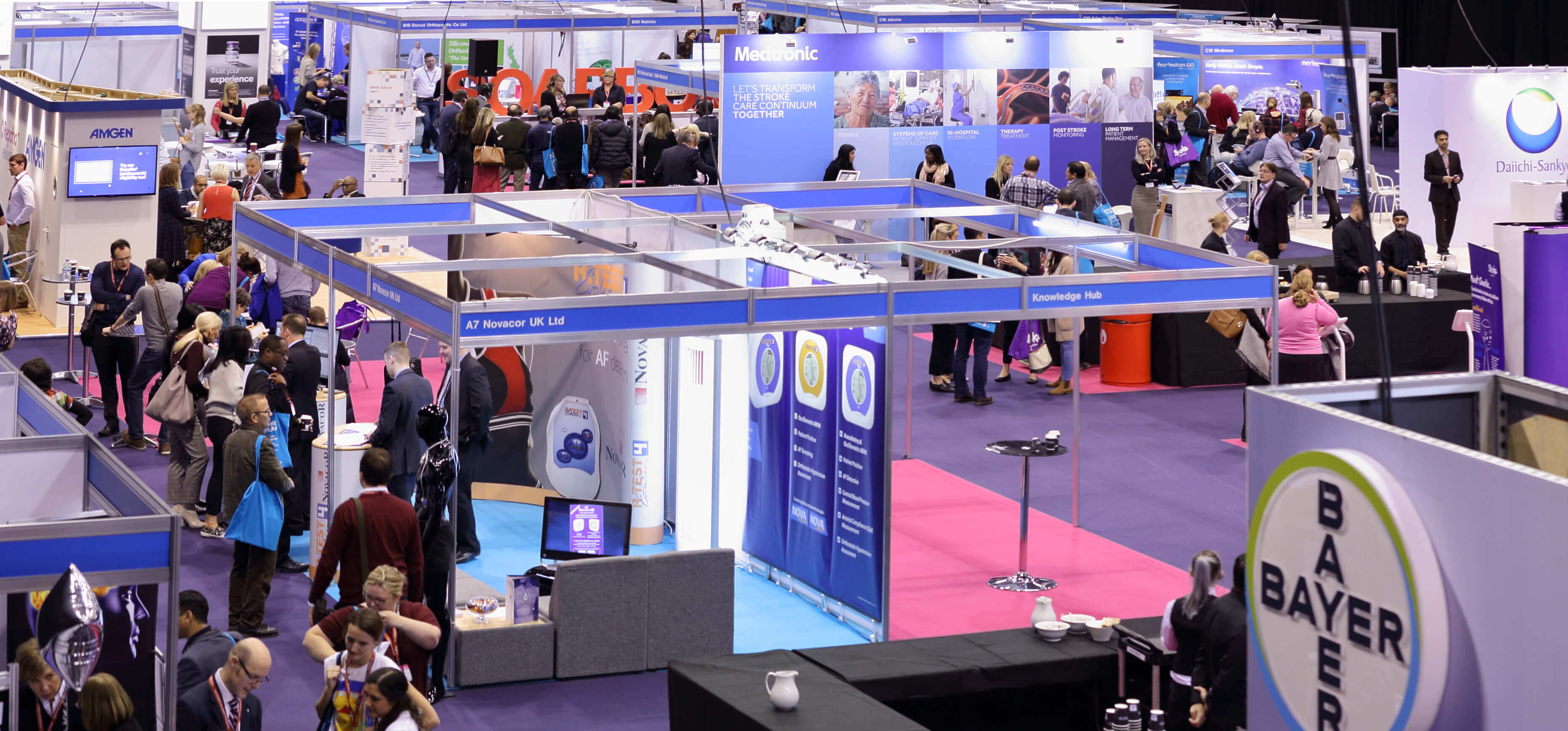 Photo of exhibition space at the UK Stroke Forum