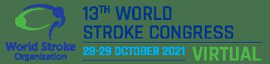 World Stroke Organisation event banner - Text reads: 13th World Stroke Congress. 28-29 October 2021 Virtual