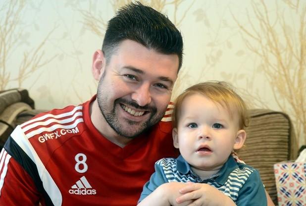 Dan Morgan and his son.