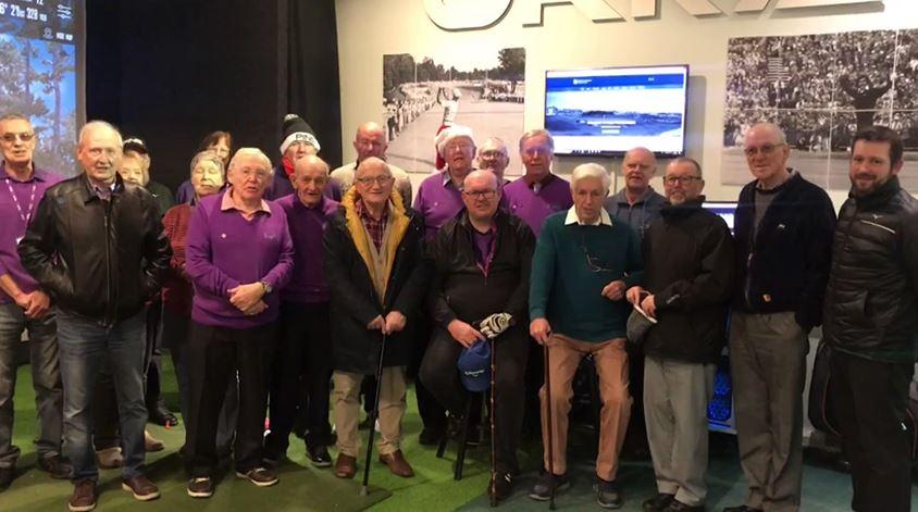 Large group of mostly elderly men