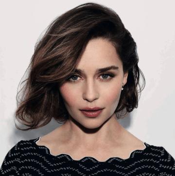 Emilia Clarke headshot brown hair