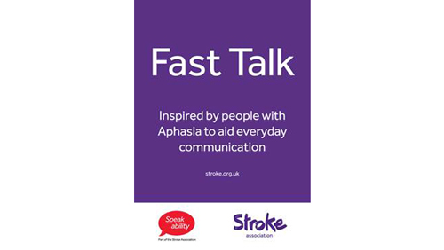 Photo of fast talk booklet.