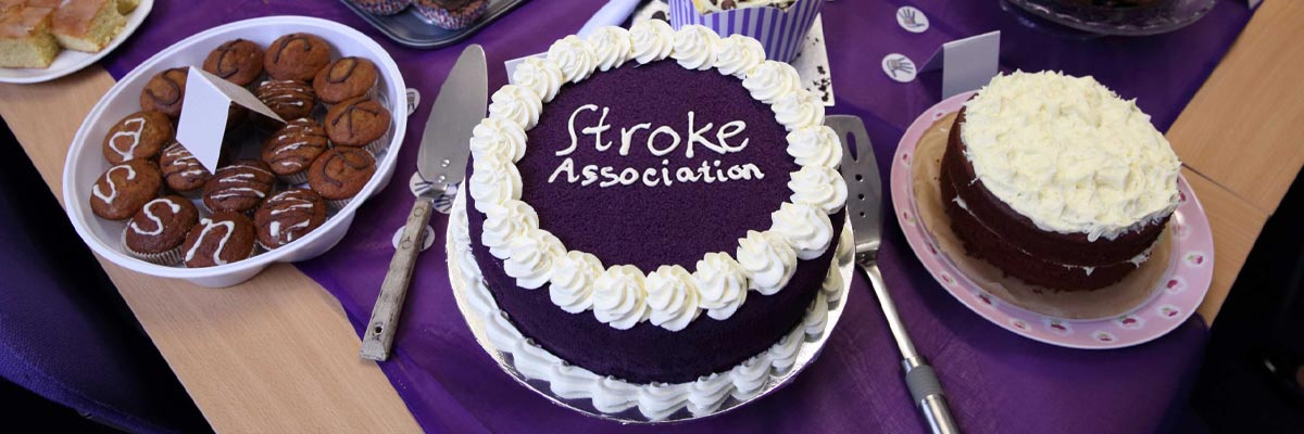 Photo of cake for the Stroke Association's Make May Purple event