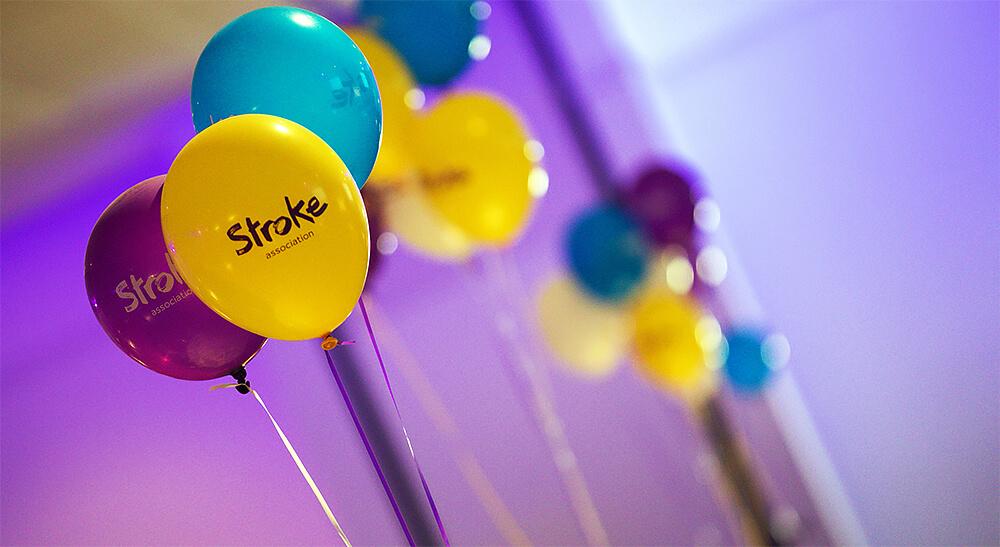 Stroke Association branded balloons
