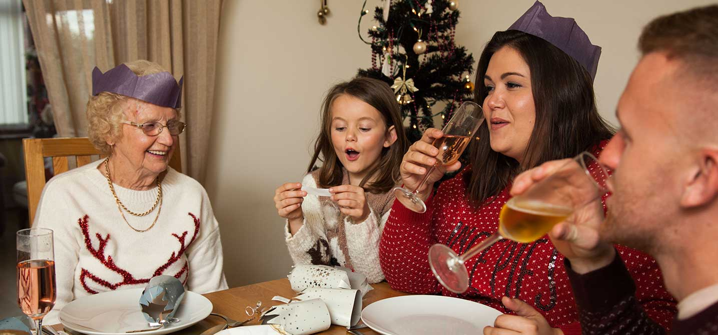 Photo of stroke survivor enjoying Christmas with his family