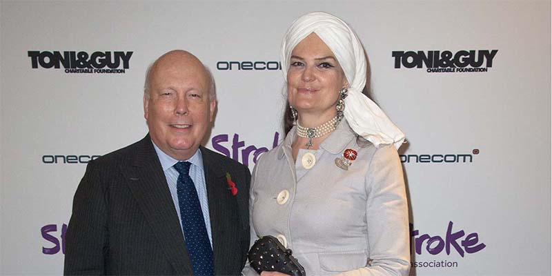 Lord Julian Fellowes and Lady Emma Fellowes at the Life After Stroke Awards