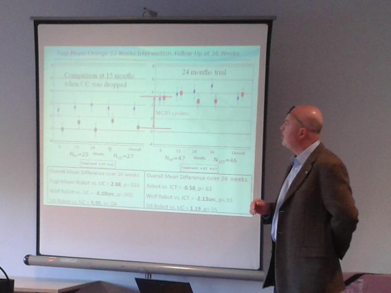 Dr Hermano Igo Krebs presents his research data.
