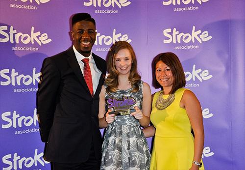 Sarah Scott at Life After Stroke Awards