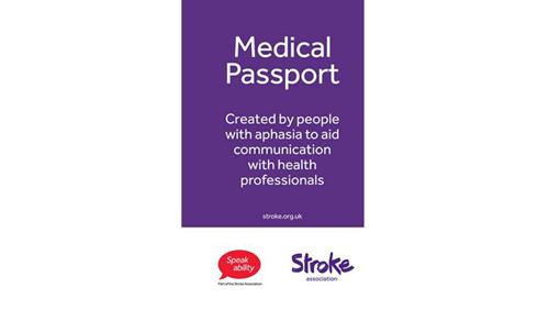 Photo of medical passport.