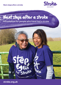 Cover of Next Steps After a Stroke of two stroke survivors outside smiling