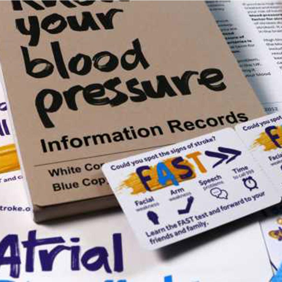 blood pressure information leaflets
