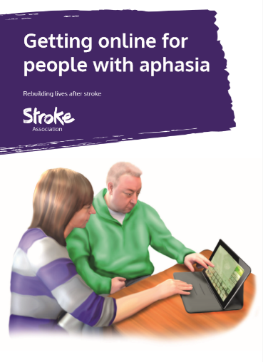 Cover of the guide Getting online for people with aphasia