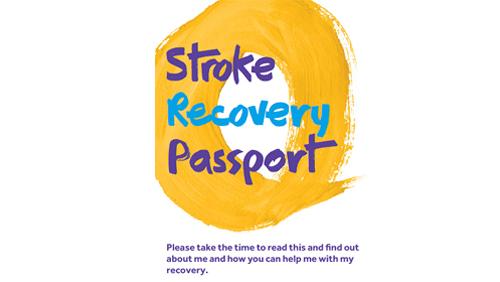 Photo of stroke recovery passport.