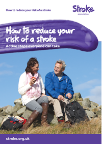 How to reduce your risk of stroke front cover of two people sitting on a rock