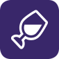 icon illustrating a glass of wine