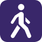 An icon of someone walking