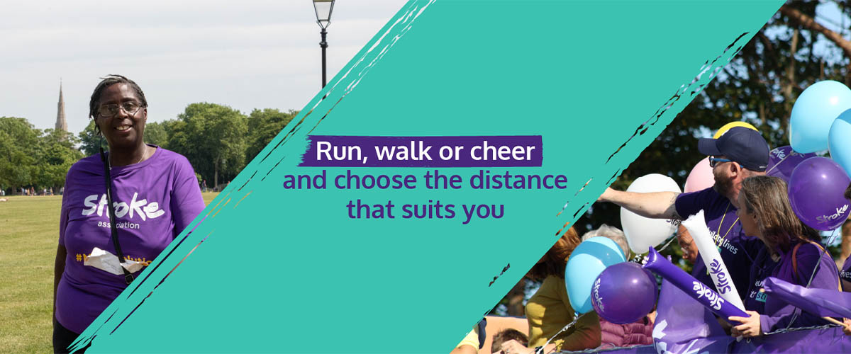 Resolution Run training tips message: Run, walk or cheer and choose the distance that suits you.