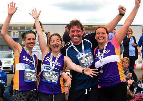 Runners raising money for the Stroke Association