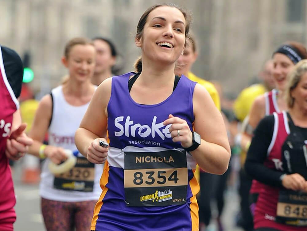 Photo of runner for the Stroke Association