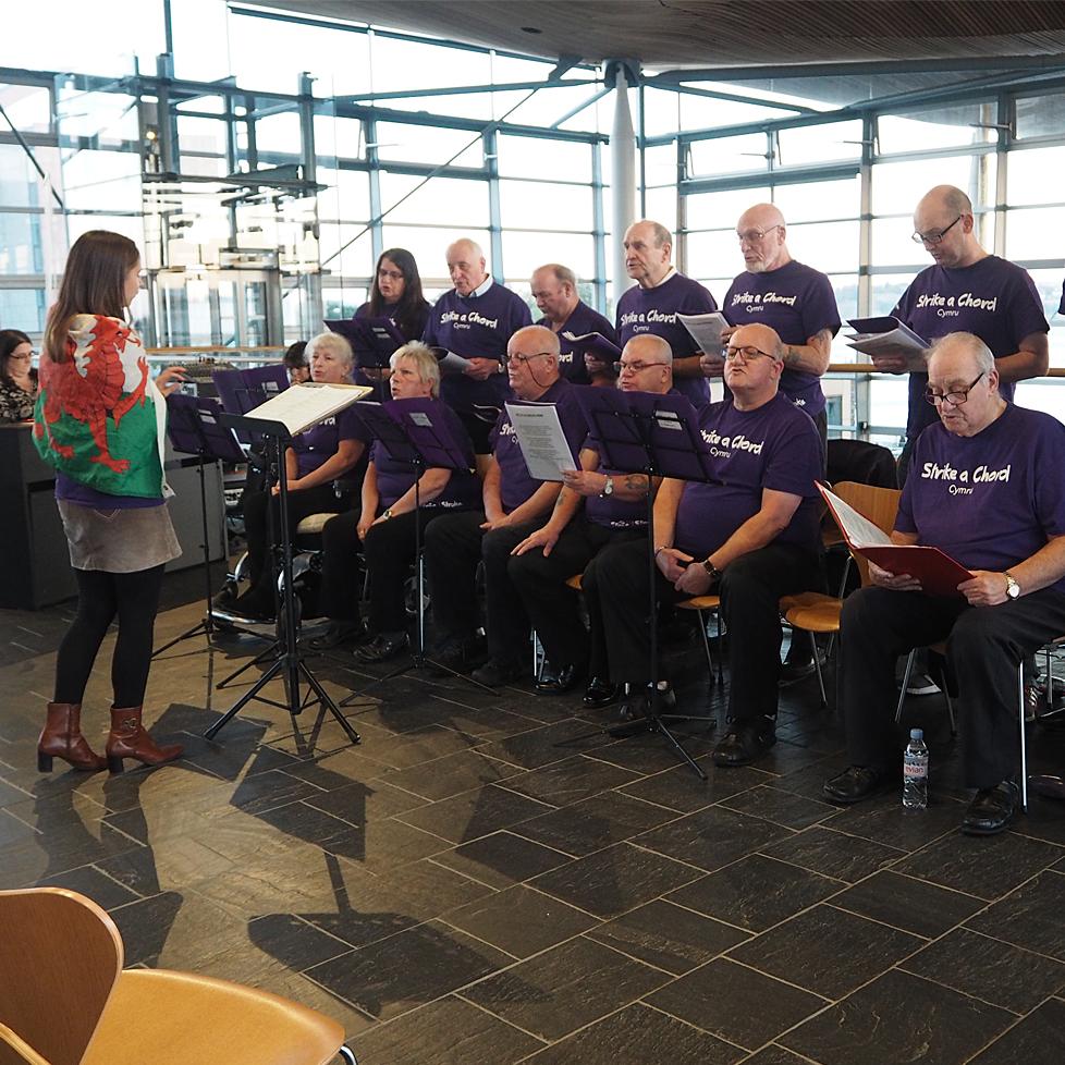 A welsh choir sings.