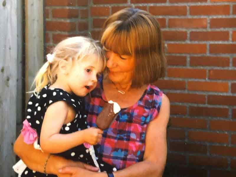 Photo of Arlena and her nan, Ursula