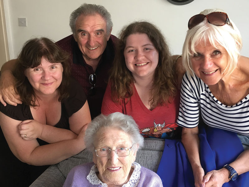 Photo of nana with family
