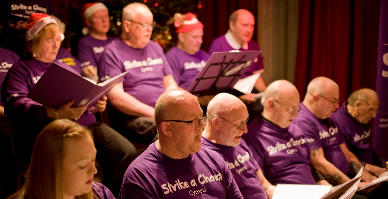 Photo of choir of stroke survivors
