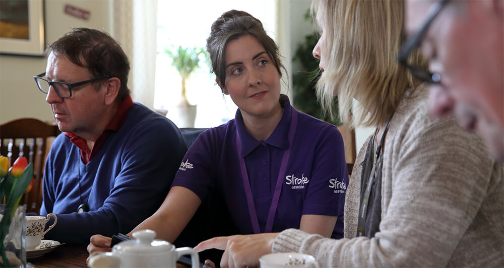 Stroke survivor with a professional counsellor