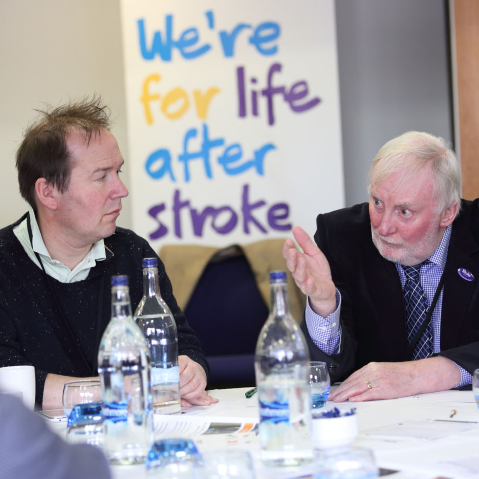 two people at uk stroke assembly