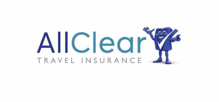 Logo for AllClear travel insurance