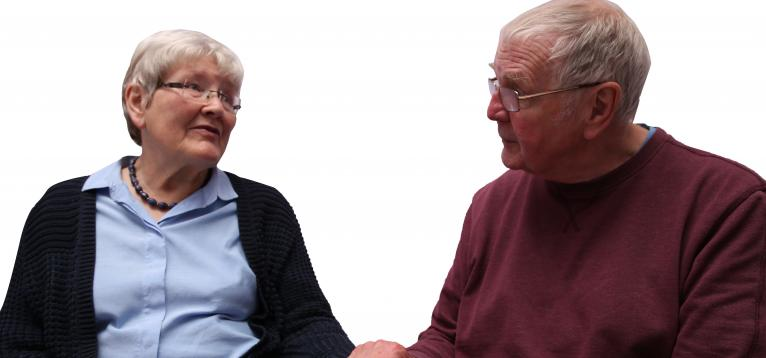 Carer talking to a stroke survivor