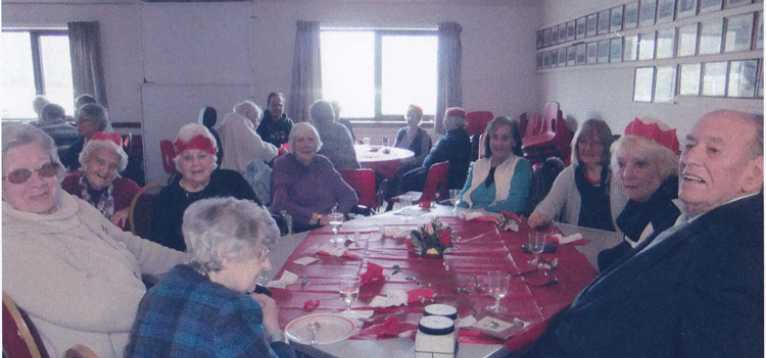 Chard & Crewkerne SC Awaiting our Christmas lunch 2014