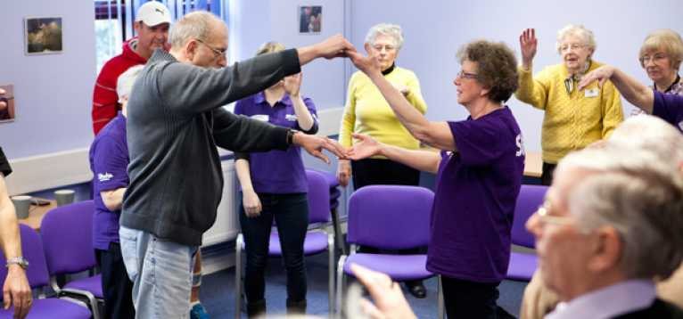 A Life After Stroke Services rehabilitation group doing physical exercise.