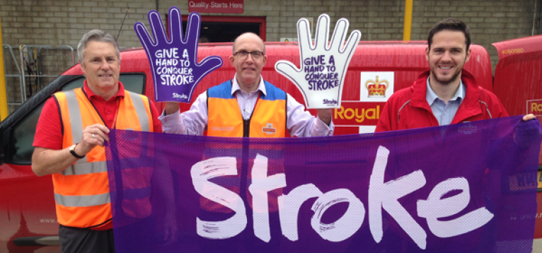 Royal Mail employees supporting the Stroke Association