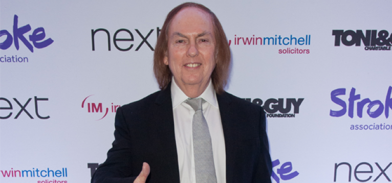 Dave Hill at the Life After Stroke Awards