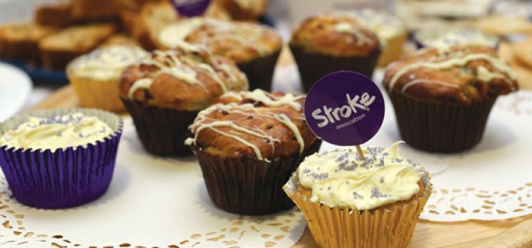 Stroke Association cupcakes