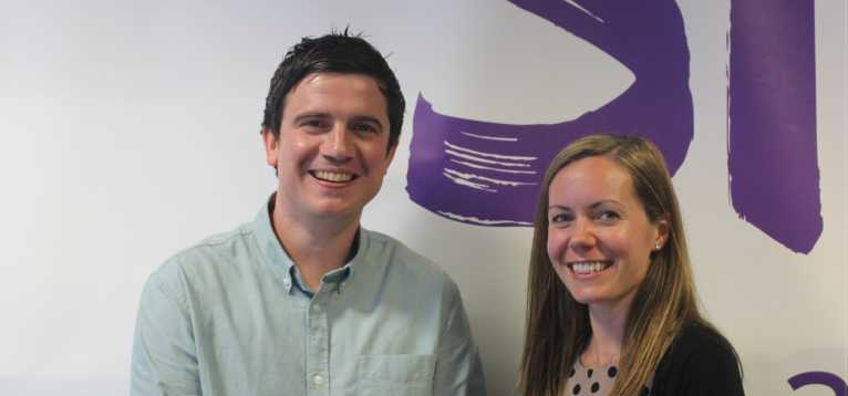 Dr Paul Kasher with Dr Katie Gallacher.