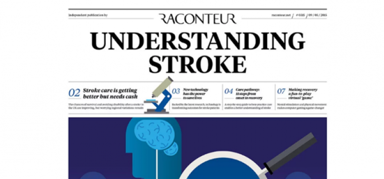 """Screenshot of the Raconteur article with the heading: """"Understanding Stroke""""."""