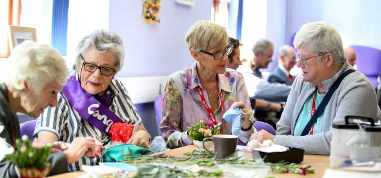Life After Stroke Centre, Bromsgrove, women talking around a table