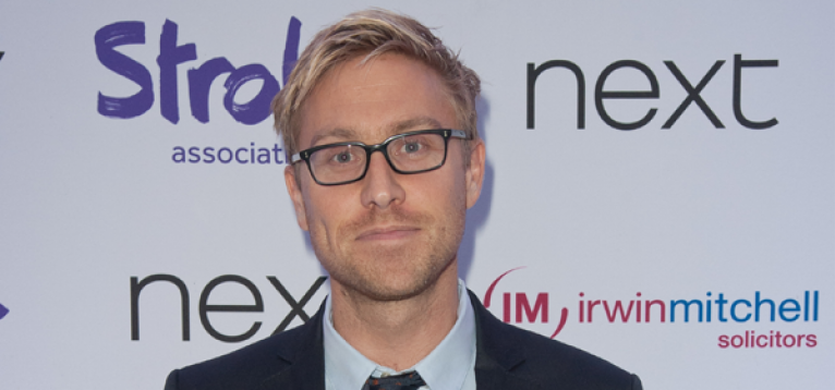 Russell Howard at the Life After Stroke awards