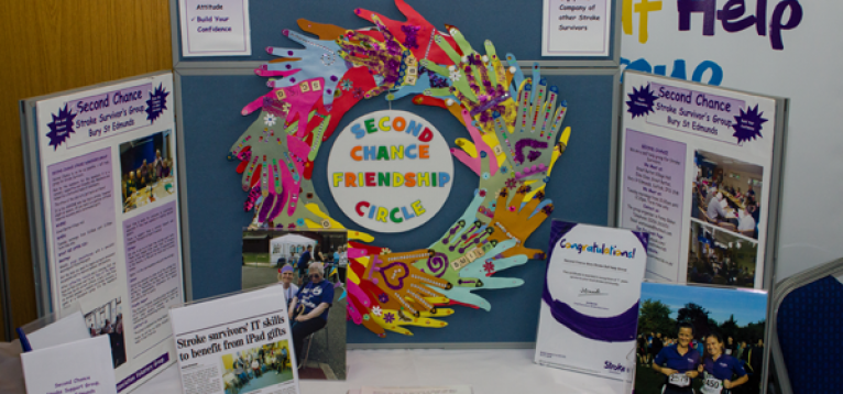 Second Chance Friendship Circle stand at the UK Stroke Club Conference 2016