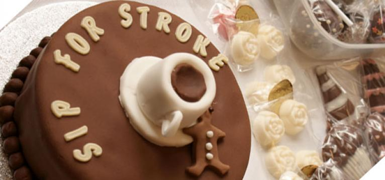 Sip for Stroke chocolate cake