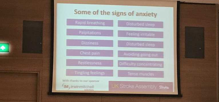 Dr Shirley Thomas talks about signs of anxiety post stroke